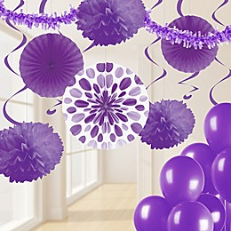 Creative Converting 32-Piece Decorating Kit in Amethyst Purple