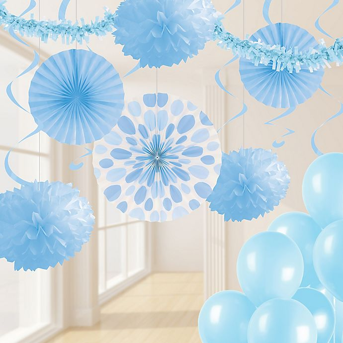 Alternate image 1 for Creative Converting 32-Piece Decorating Kit in Pastel Blue