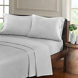 Urban Habitat Heathered Jersey Full Sheet Set in Light Grey