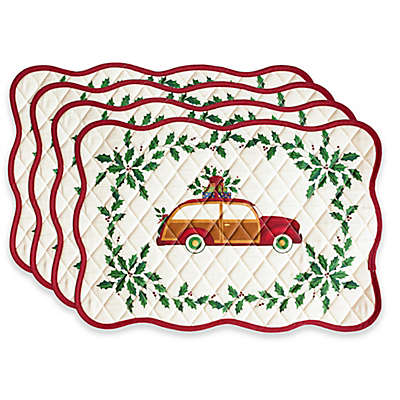 Lenox® Holiday Gifts Quilted Placemats with Red Trim (Set of 4)
