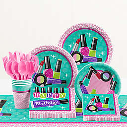 Creative Converting™ 81-Piece Sparkle Spa Birthday Party Tableware Kit