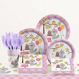 Creative Converting™ 81-Piece Happi Woodland Girl 1st Birthday Party Tableware Kit