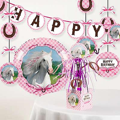 Creative Converting™ 6-Piece Heart My Horse Birthday Party Decor Kit