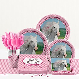 Creative Converting™ 81-Piece Heart My Horse Birthday Party Tableware Kit