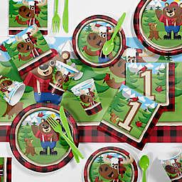 Creative Converting™ 81-Piece Lum-Bear Jack 1st Birthday Party Tableware Kit
