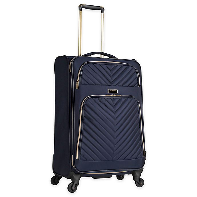 Alternate image 1 for Kenneth Cole Reaction 24-Inch Chelsea Checked Luggage in Navy