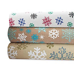 Pointehaven 170 GSM Snow Flakes Sheet Set
