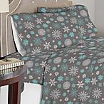 Celeste Home 190 GSM Snowflakes King Sheet Set in Grey