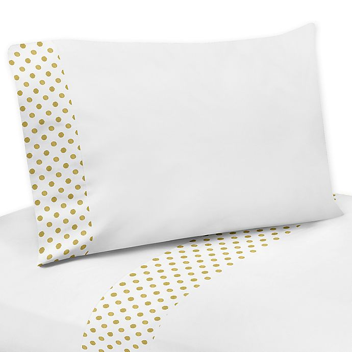 Alternate image 1 for Sweet Jojo Designs Amelia Queen Sheet Set in Gold/White