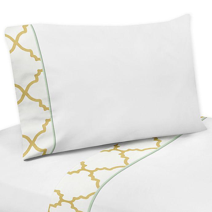 Alternate image 1 for Sweet Jojo Designs Ava Queen Sheet Set in Gold/White