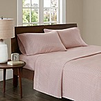 Madison Park 3M Microcell Printed Queen Sheet Set in Blush