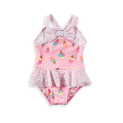 Baby Buns 1-Piece Sweet Treat Swimsuit in Pink
