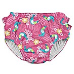 i play.® Size 6M Toucan Ruffle Snap Swim Diaper in Hot Pink