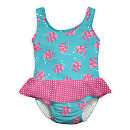 i play.® 1-Piece Angelfish Skirty Swimsuit with Built-In Swim Diaper in Aqua