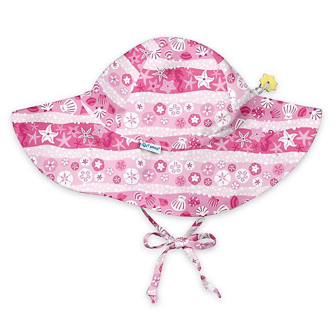fae6abcad i play.® Stripe Shells Brim Sun Hat in Pink | buybuy BABY