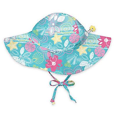 i play.® Shellflower Brim Sun Hat in Aqua