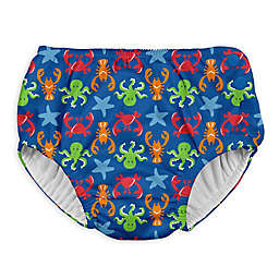 I Play. ® Sea Life Snap Swim Diaper in Royal Blue