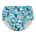 I Play. ® Size 24M Wavy Boats Snap Swim Diaper in Aqua
