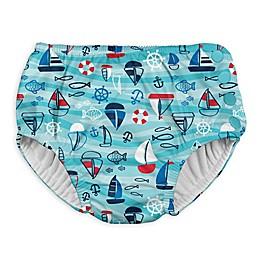 I Play. ® Wavy Boats Snap Swim Diaper in Aqua