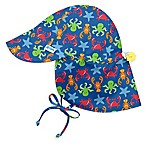i play.® Newborn Sealife Flap Sun Hat in Royal Blue