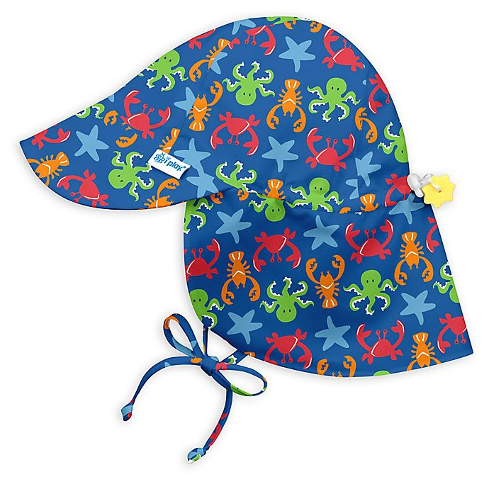View a larger version of this product image. Click to Zoom. Alternate image  1 for i play.® Sealife Flap Sun Hat in Royal Blue 0d9d3c17d1fc