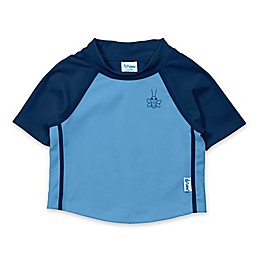 i play.® Color Block Short Sleeve Rash Guard in Blue/Navy
