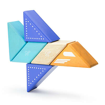 Tegu Travel Pals 6-Piece Jet Wooden Block Set