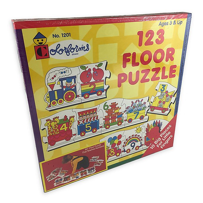 Alternate image 1 for Colorforms® 10-Piece 123 Floor Puzzle