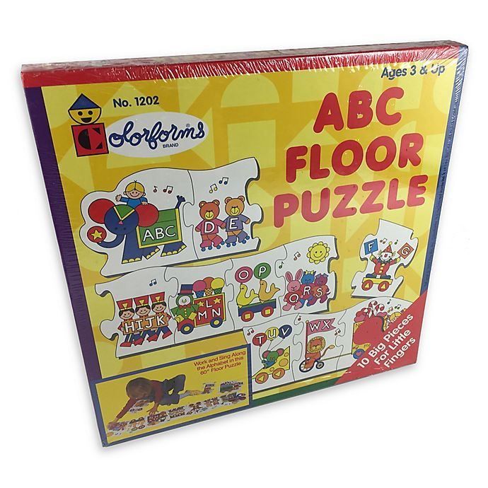 Alternate image 1 for Colorforms® 10-Piece ABC Floor Puzzle
