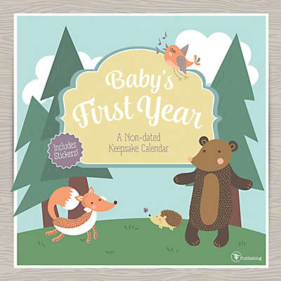 Baby's First Year Woodland Non-dated Wall Calendar