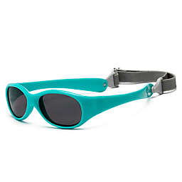 UVeez Flex Fit Toddler Sunglasses in Hot Aqua