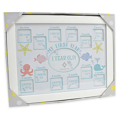 """Concepts in Time """"My First Year"""" 13-Photo Underwater Picture Frame"""