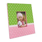 Concepts in Time Polka Dot 5-Inch x 3-Inch Picture Frame in Pink/Green