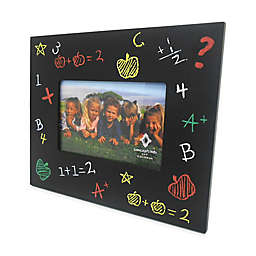 Concepts in Time Chalkboard 6-Inch x 4-Inch Picture Frame in Black