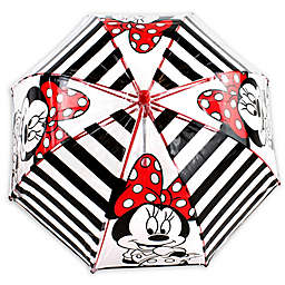Disney® Striped Minnie Umbrella in Black
