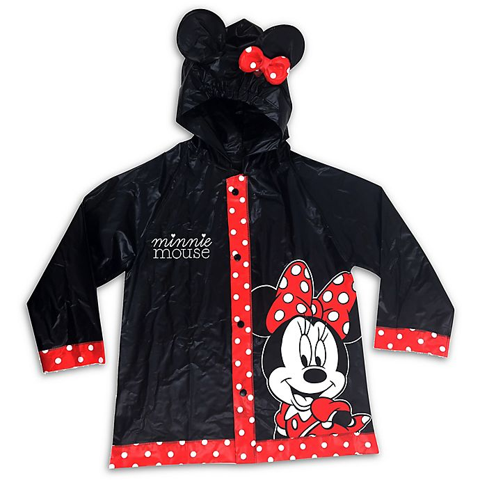 Alternate image 1 for Disney® Size 2T-4T Minnie Mouse Rain Slicker in Red/Black