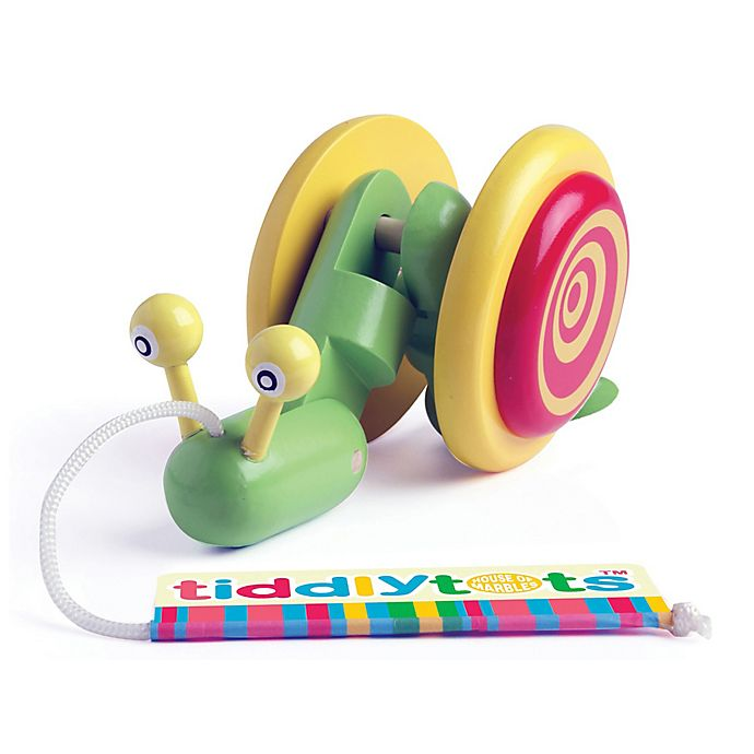 Alternate image 1 for House of Marbles Tiddlytots Giggle Wiggle Snail Wooden Pull-Along Toy