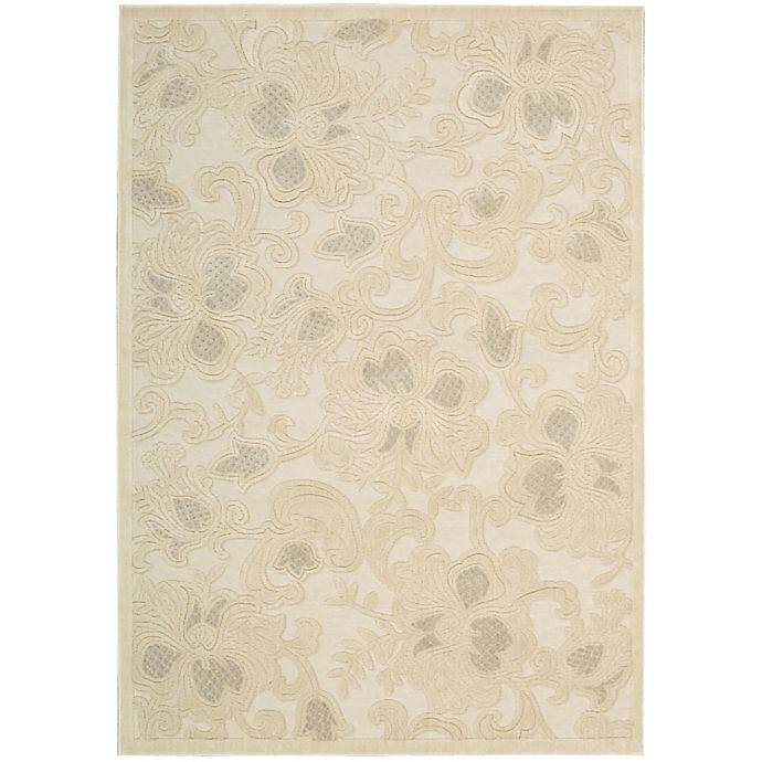 Alternate image 1 for Nourison Gil Floral 3-Foot 6-Inch x 5-Foot 6-Inch Area Rug in Cream