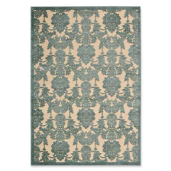 Alternate image 1 for Nourison Gil Damask 5-Foot 3-Inch x 7-Foot 5-Inch Area Rug in Teal