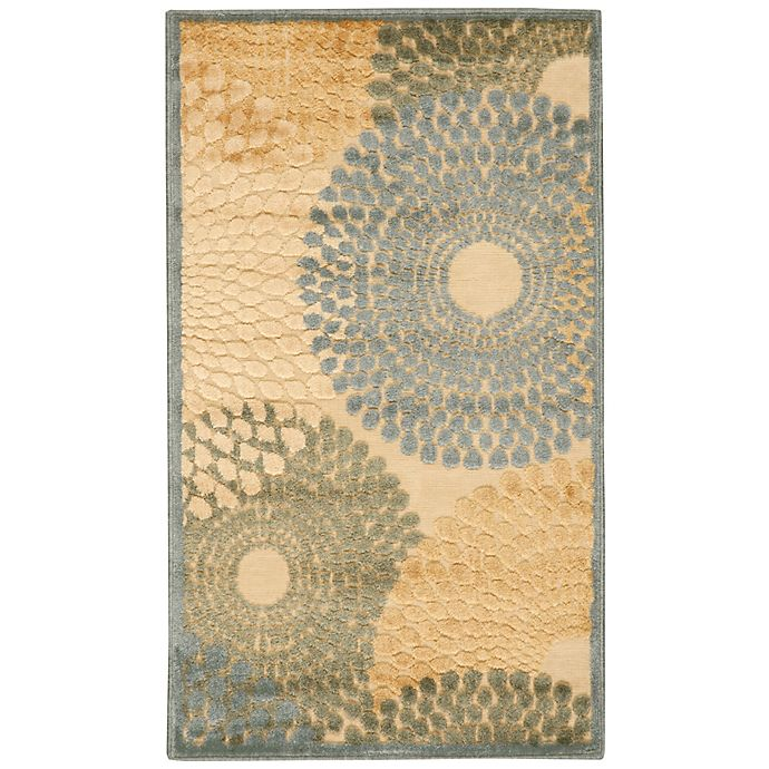 Alternate image 1 for Nourison Gil Sunburst 2-Foot 3-Inch x 3-Foot 9-Inch Accent Rug in Teal