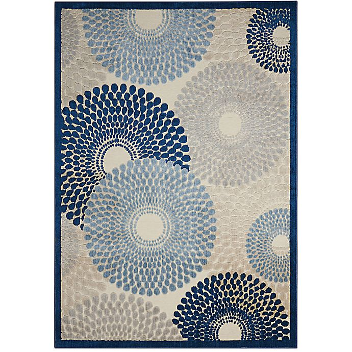 Alternate image 1 for Nourison Gil Sunburst 2-Foot 3-Inch x 3-Foot 9-Inch Accent Rug in Ivory/Blue