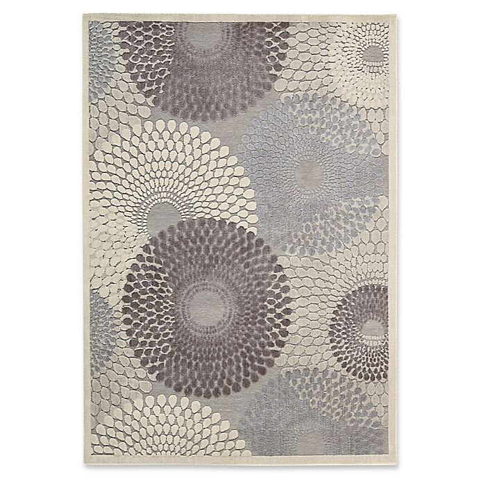 Alternate image 1 for Nourison Gil Sunburst 6-Foot 7-Inch x 9-Foot 6-Inch Area Rug in Grey