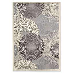 Nourison Gil Sunburst 6-Foot 7-Inch x 9-Foot 6-Inch Area Rug in Grey