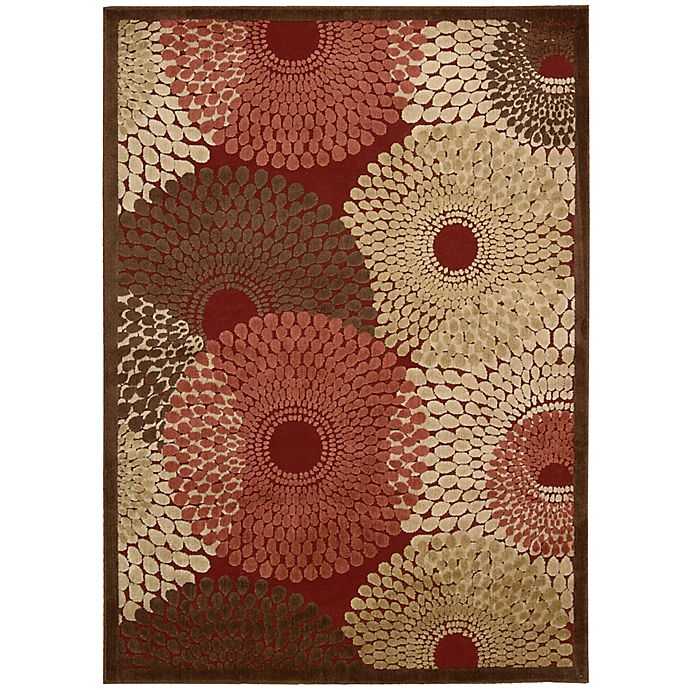 Alternate image 1 for Nourison Gil Sunburst 7-Foot 9-Inch x 10-Foot 10-Inch Area Rug in Red