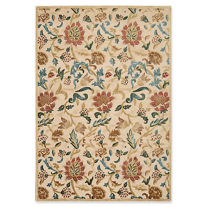 Alternate image 1 for Nourison Gil Vine 5-Foot 3-Inch x 7-Foot 5-Inch Area Rug in Light Gold