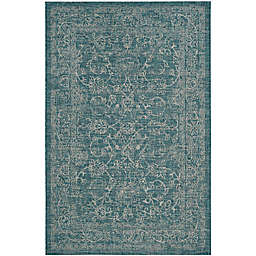 Miami Vintage Indoor/Outdoor Rug in Turquoise