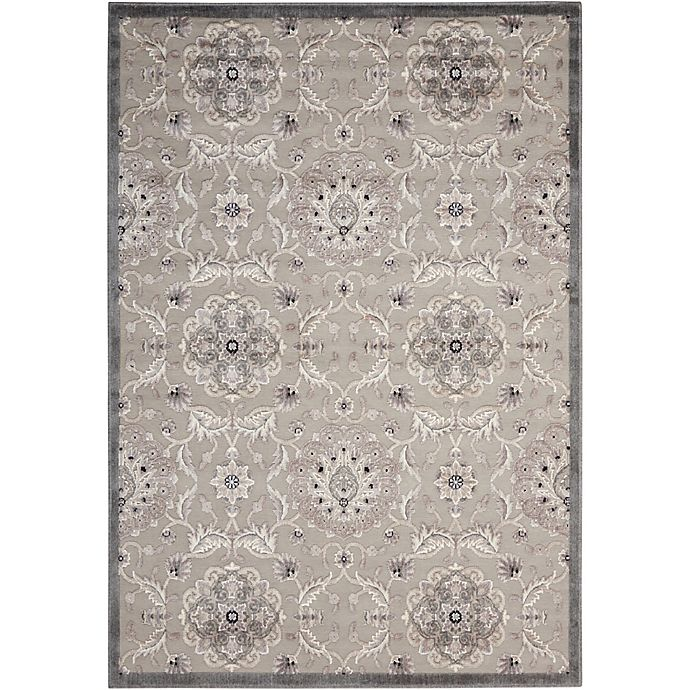 Alternate image 1 for Nourison Gil Floral 3-Foot 6-Inch x 5-Foot 6-Inch Area Rug in Grey