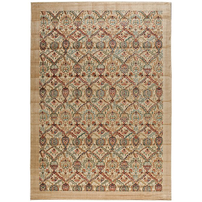 Alternate image 1 for Nourison Graphic Illusions Classic Damask 3-Foot 6-Inch x 5-Foot 6-Inch Area Rug in Light Gold