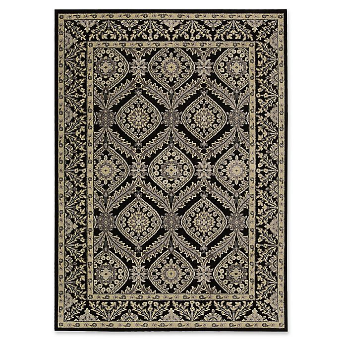 Alternate image 1 for Nourison Gil Bordered Medallion 5-Foot 3-Inch x 7-Foot 5-Inch Area Rug in Black
