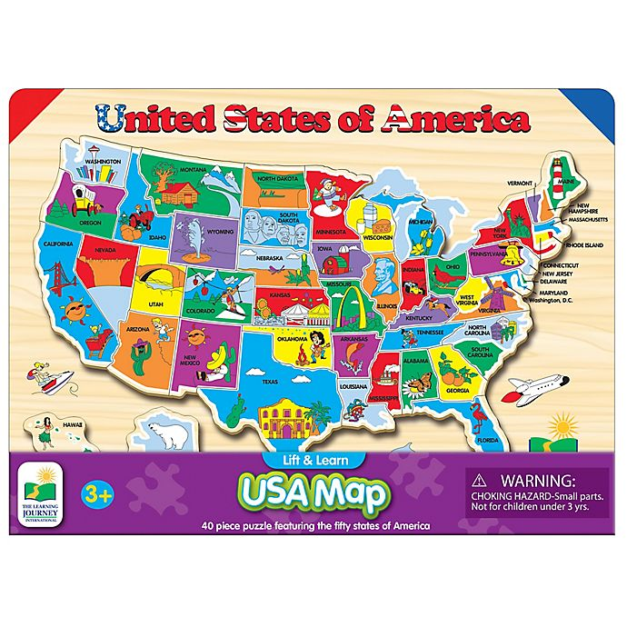 The Learning Journey Lift & Learn USA Map Puzzle | Bed Bath ...